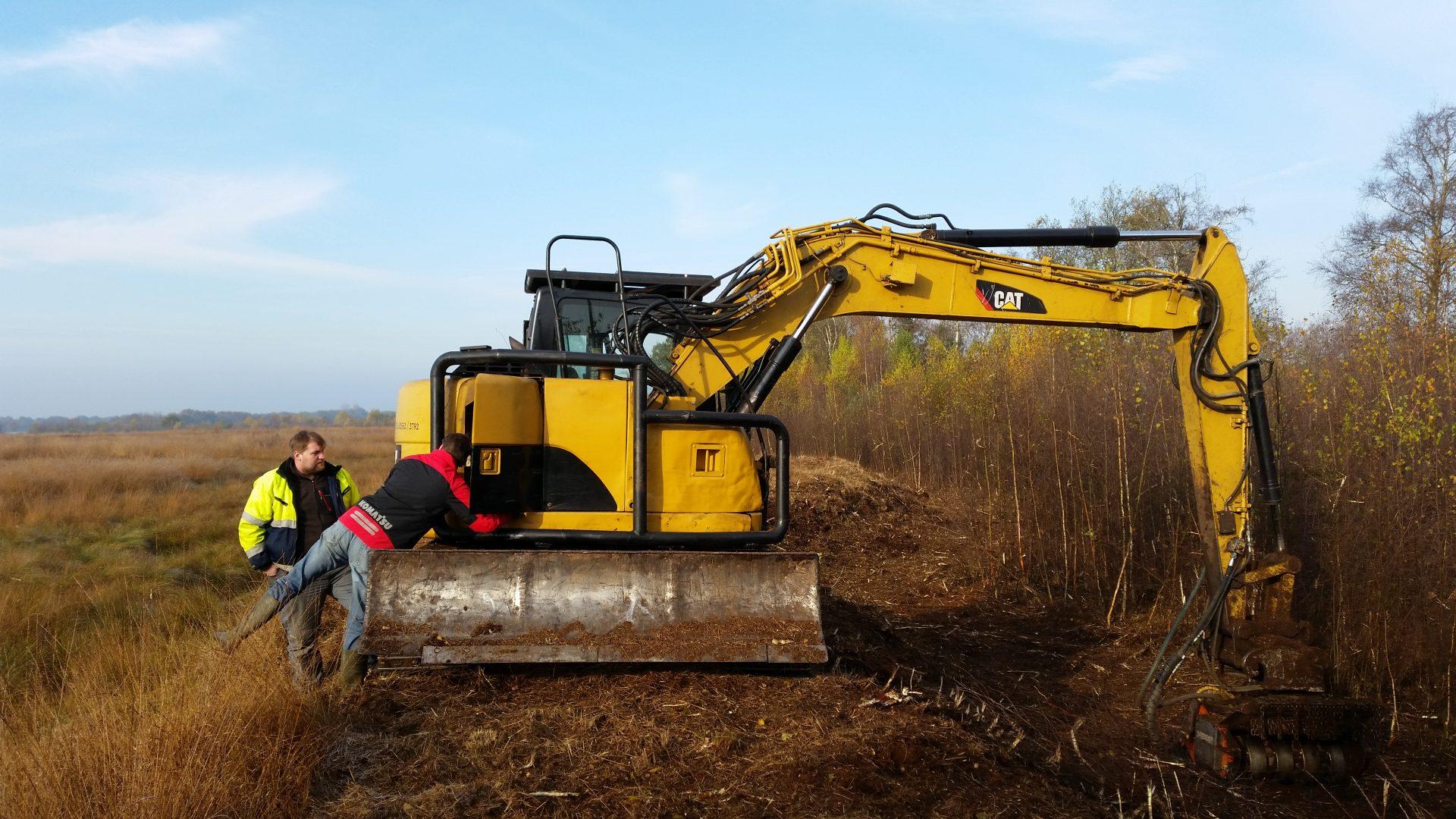 Mulcharbeiten im Recker Moor
